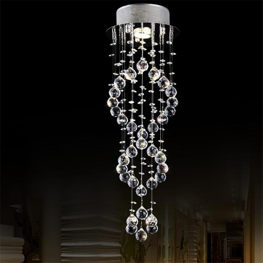 Lustre De Cristal Modern LED Ceiling Lights Lamp Luminarias Chandelier Ceiling For Balcony Aisle Corridor Staircase lights noosion modern led ceiling lamp for bedroom room black and white color with crystal plafon techo iluminacion lustre de plafond