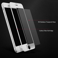 Matte Frosted 3D Carbon Fiber Soft edge Tempered Glass For iPhone 7 6s Plus Full Screen Protectors X 8