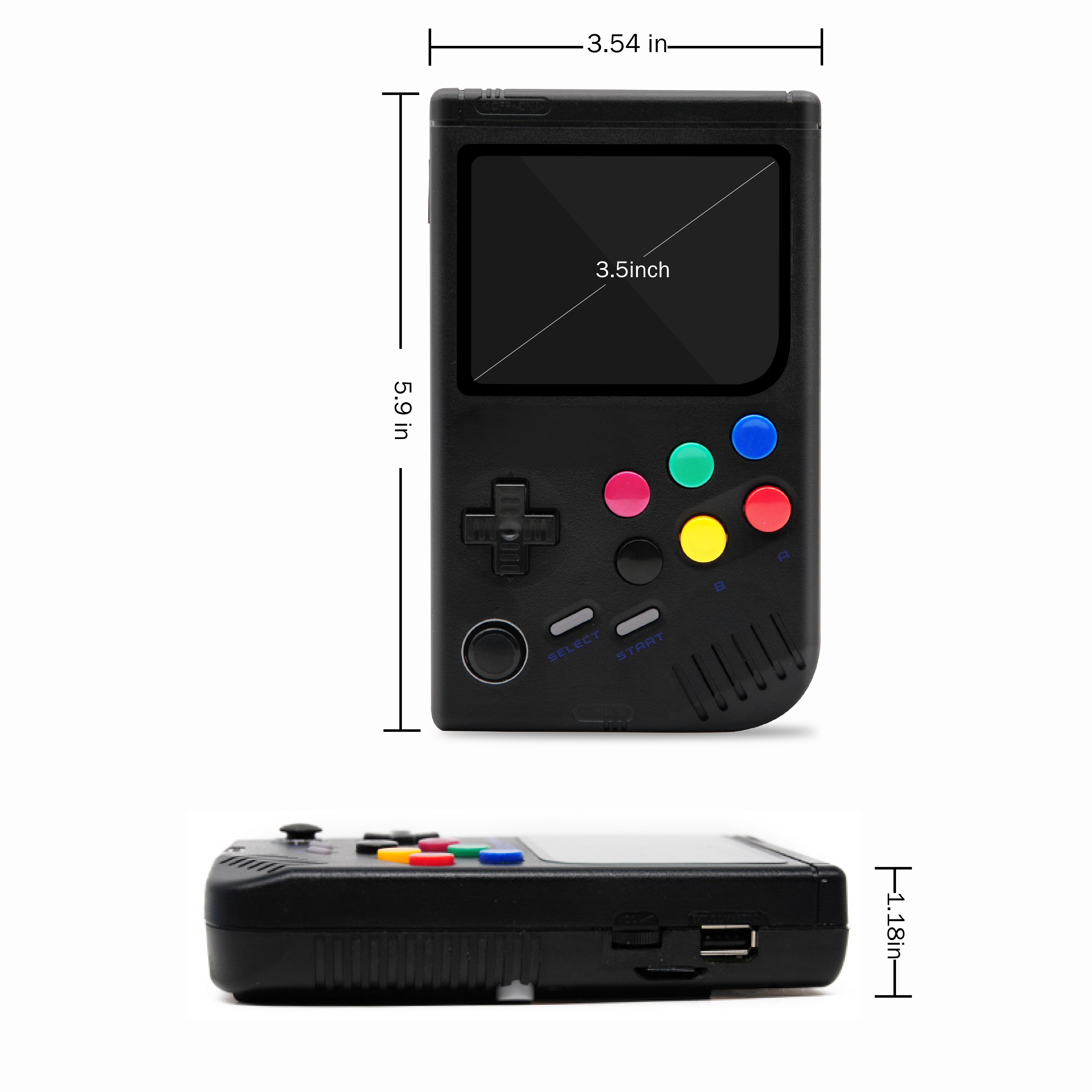 Dikdoc LCL Pi Retro Video Game Console Player Raspberry Pi 3B Handheld Game with 3.5 Inch IPS Screen Built in 10000 Games-in Handheld Game Players from Consumer Electronics    3