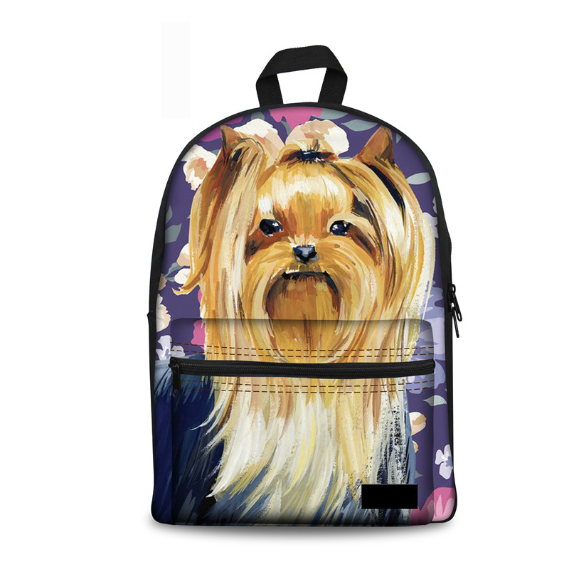 Noisydesigns Print Backpack Women Cute Floral Yorkie School Rucksack Teenager Girls Middle Knapsack Mochila Feminina WholesaleNoisydesigns Print Backpack Women Cute Floral Yorkie School Rucksack Teenager Girls Middle Knapsack Mochila Feminina Wholesale