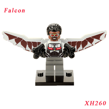 Pogo Falcon Sam Wilson Diy Bricks Super Heroes Building Block Star Wars Model Diy Bricks Toys Gift For Children Hobbies XH260