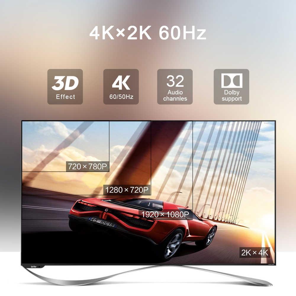 Rocketek HDMI кабель HDMI к HDMI кабель HDMI 2,0 4k 3D 60FPS кабель для HD tv ЖК-дисплея ноутбука PS3 проектор компьютерный кабель 0,5 m 1m 1,5 m