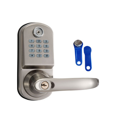 New Security Electronic Digital Code Keyless Keypad Entry Door Lock ID Reader password code spring bolt 8015 ned high security electronic induction smart digit code keypad entry door lock with id reader right handle and card unlock