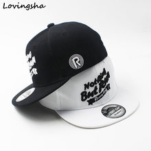 LOVINGSHA Boy Baseball Caps Letter Design 3-8 Years Old Kid Snapback Caps High Qaulity Adjustable Cap For Girl CC085(China)