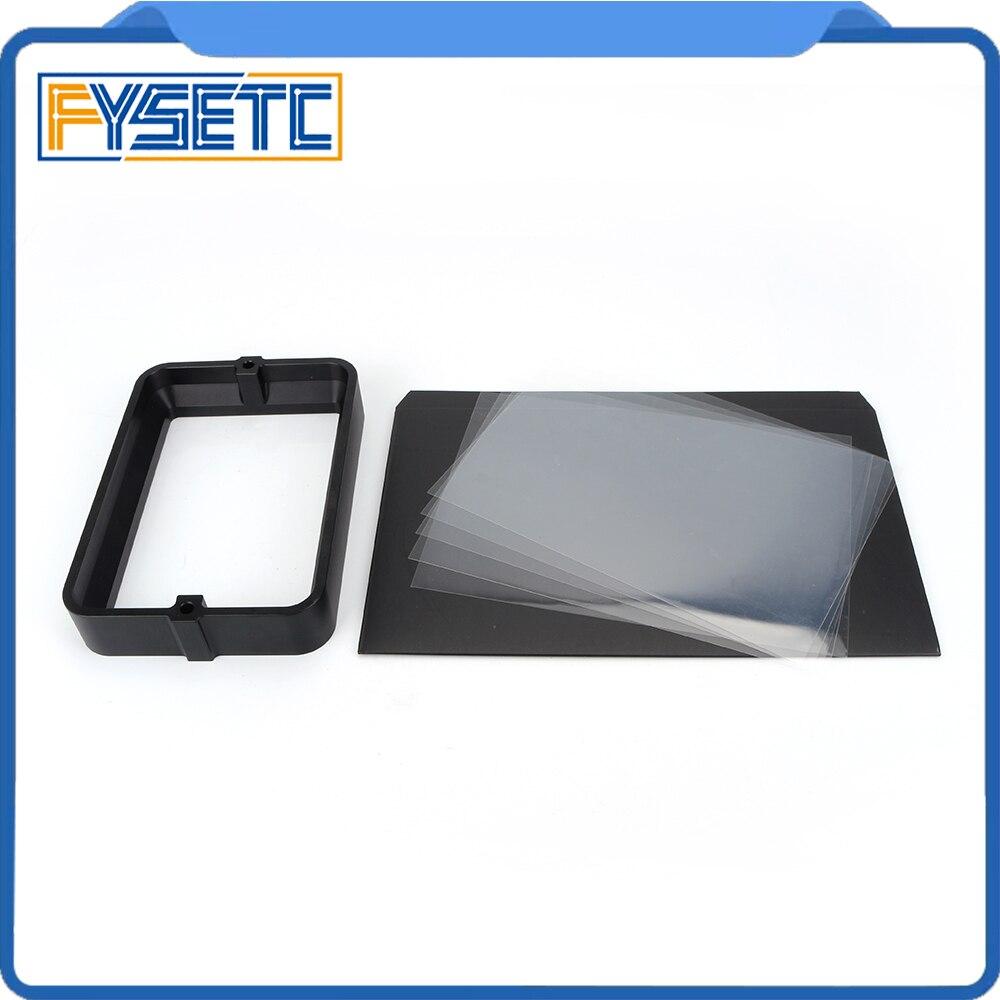 Material Rack negro 178*120mm con 5 uds. FEP Film para DLP SLA wangao D7 3D impresora de resina de aluminio anodizado Vat anillo de acero - 4