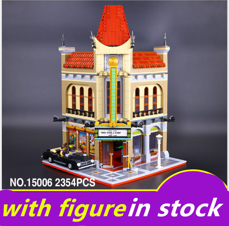 LEPIN 15006 lepin Palace Cinema street view Set Compatible legoing Palace Cinema legoing 10232 Model Building Blocks Bricks building a psychic palace provoking positive perceptions
