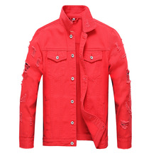 b Hot Denim Jacket Men Vintage Solid Fashion Casual Single Breasted Spring Autumn Cowboy Coats with Pockets Jean