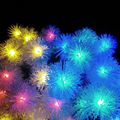 Battery 2M 20LED Snowball LED String Holiday Lights For 2017 Wedding Parties Decoration Lightings LED lumieres de Snow Flakes