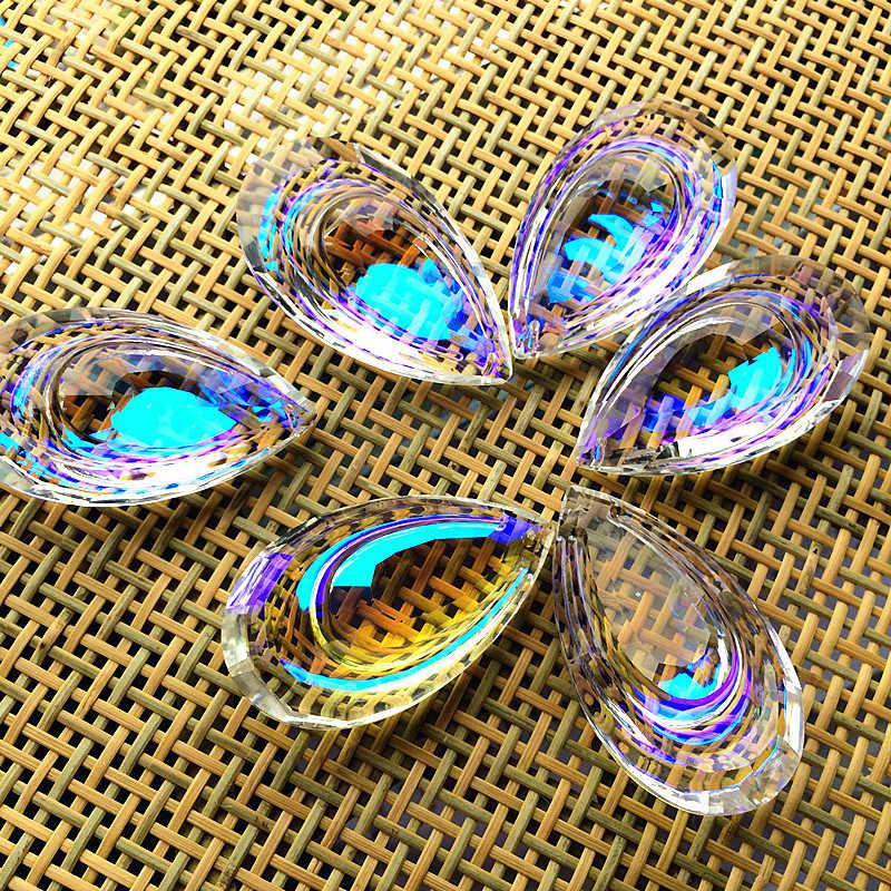 63 мм прозрачный AB Teardrop K9 стеклянные Хрустальные подвесные люстры запчасти гирлянда чакра спектры люстры лампа висят жидкий хайлайтер