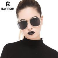 BAVIRON Classic Aviator Sunglasses For Women Polarized UV400 Lenses Sun Glasses Oval Outfits Popular Look Stylish