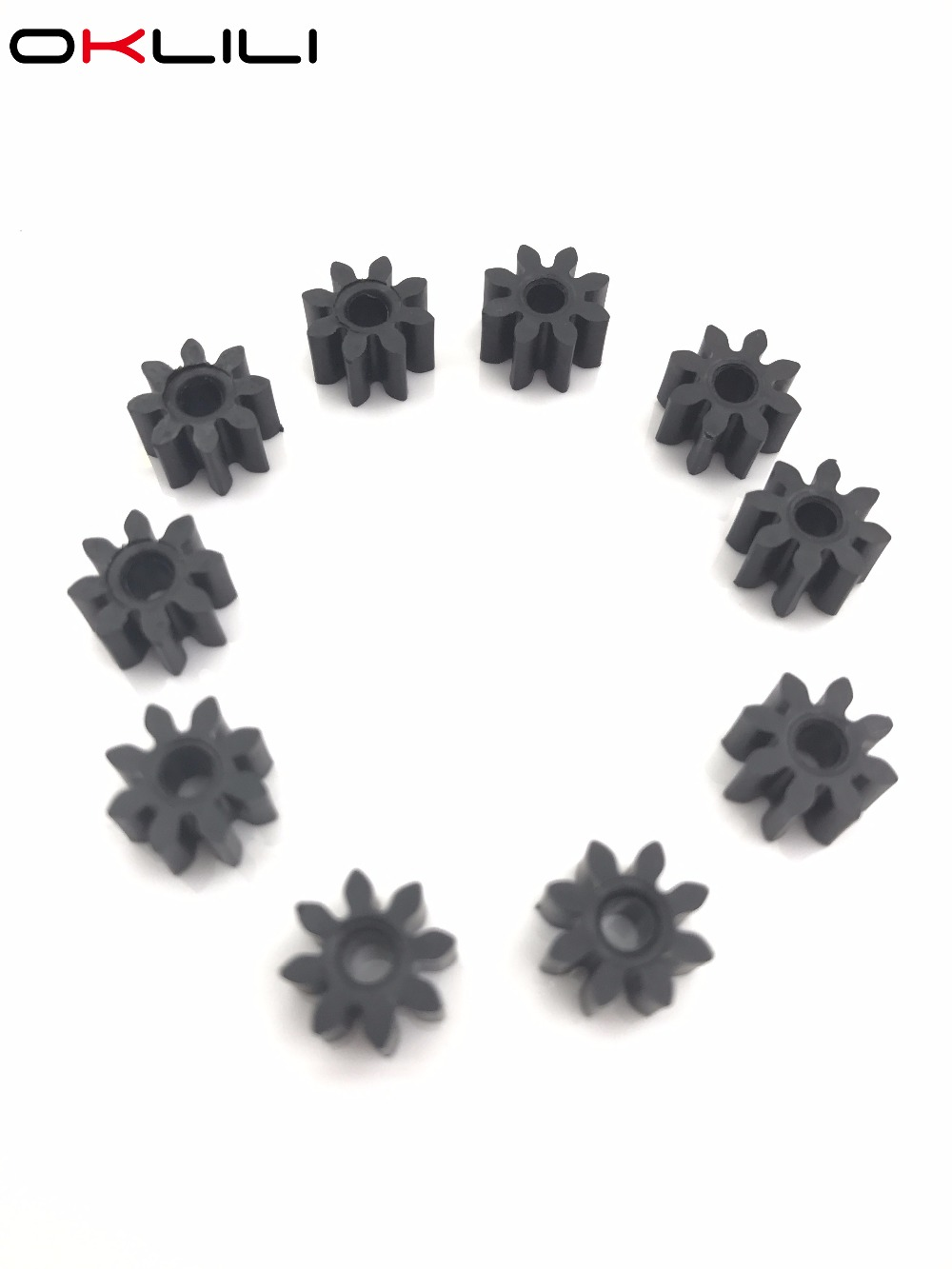 10X Feed Feeding Delivery Roller Gear 8T For HP 920 6000 6500 6500A 7000 7500 7500A B010 B010A B010b B109 B109a B109c B109q B110