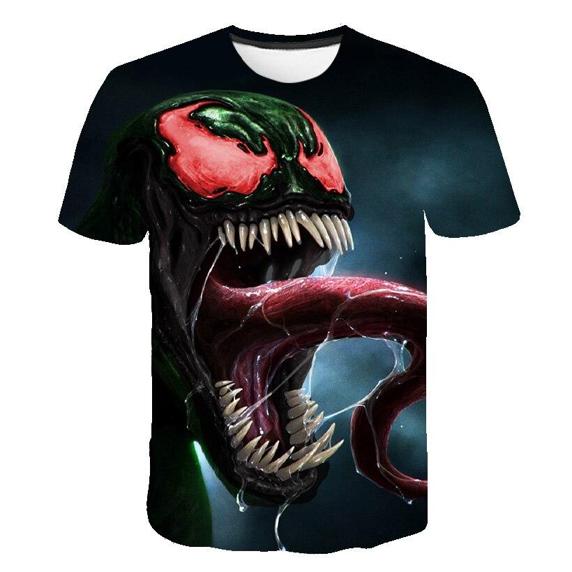Новейшая футболка Веном с 3D принтом, футболка s для мужчин и женщин, Повседневная футболка с коротким рукавом для фитнеса, футболка Дэдпул, футболки с черепом, топы азиатского размера - Цвет: 1571