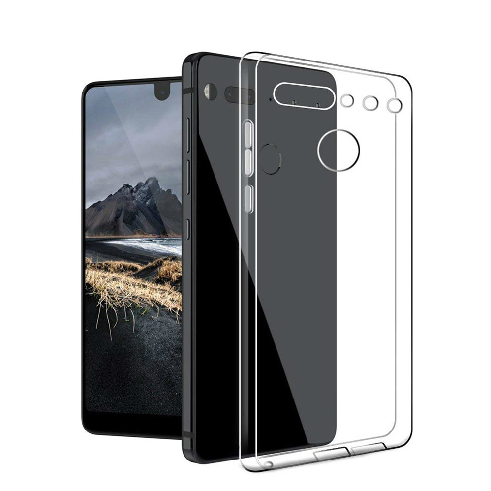 Transparent Clear Case Soft TPU Silicone Back Cover Case For Essential Phone PH1 PH-1 Shockproof Cases for essential Cover(China)
