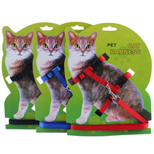 2016 New Style Adjustable Nylon Kitten Cat Basic Collars Walking Leads Puppy Harness For Yorkshire Terrier Teddy Free Shipping