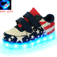 Led Shoes Kids USB Charge 7colors Boys Girls Luminate Sneakers Children Shoes With Light Up Size 25 37 Glowing Shoes