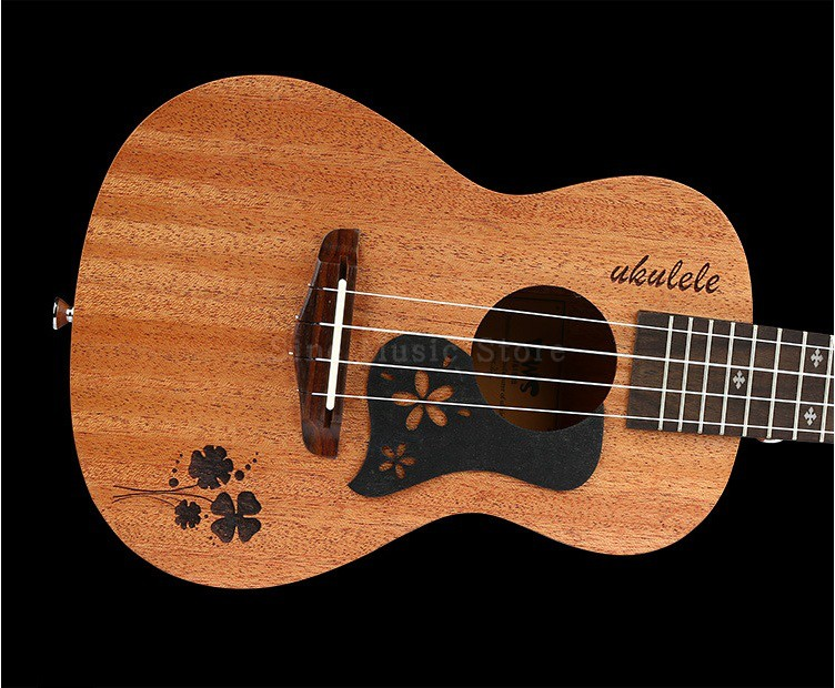23 inch 18 Fret 4 Strings Hawaii Small Guitar Standard C-type Mahogany Ukulele Concert Ukulele Fingerboard Hawaiian Guitar ukulele 23 inch four string small guitar hawaii travel little guitar mahogany child guitar