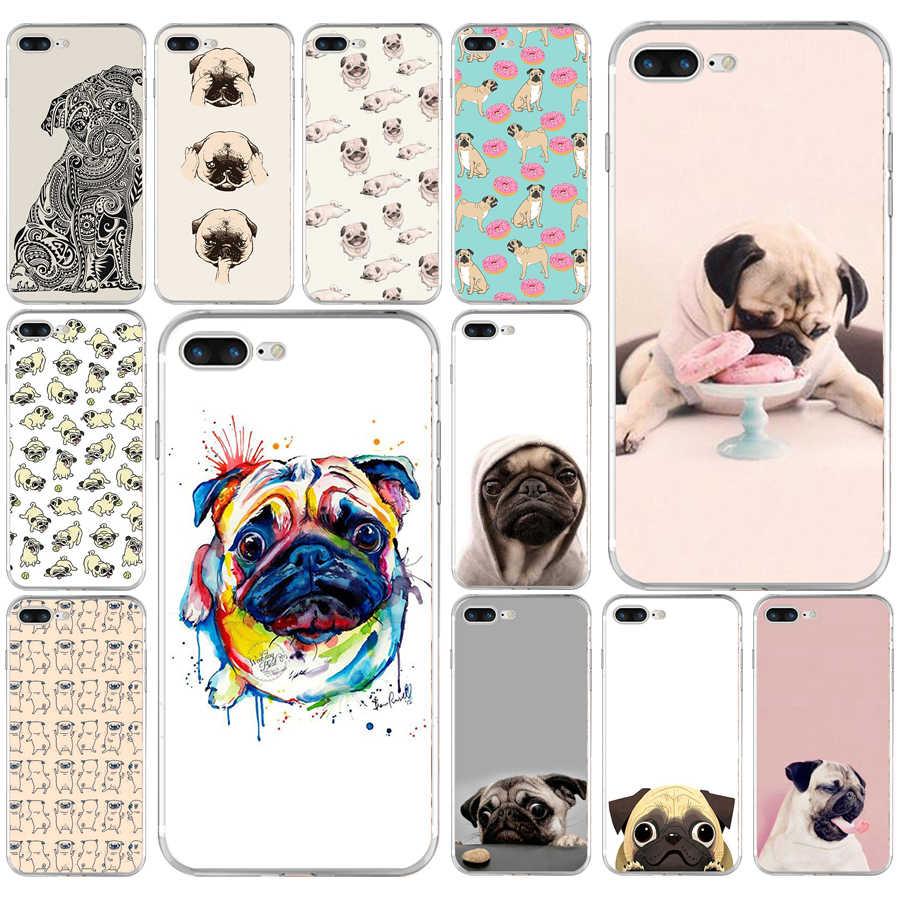 186AQ I love pugs สุนัขสัตว์ Tpu ซิลิโคนสำหรับ iphone ของ Apple iphone 6 6 วินาที 7 8 plus กรณี