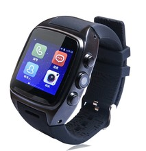 """X01 smart montre MTK 6572 Dual core 1.54 """"écran montre-bracelet 512 MB Ram 4 GB Rom carte sim Android 5.1 Bluetooth 3G WIFI Caméra GPS"""