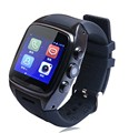 "X01 smart watch mtk 6572 dual core 1.54 ""tela 512 mb ram 4 gb rom android 5.1 cartão do sim bluetooth 3g wi-fi gps câmera pk zgpax s8"