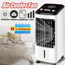Ventilador de aire acondicionado portátil de 70 W, ventilador humidificador, enfriador, 220 V, aire acondicionado, ventilador de refrigeración temporizado, Humidificador + regalo
