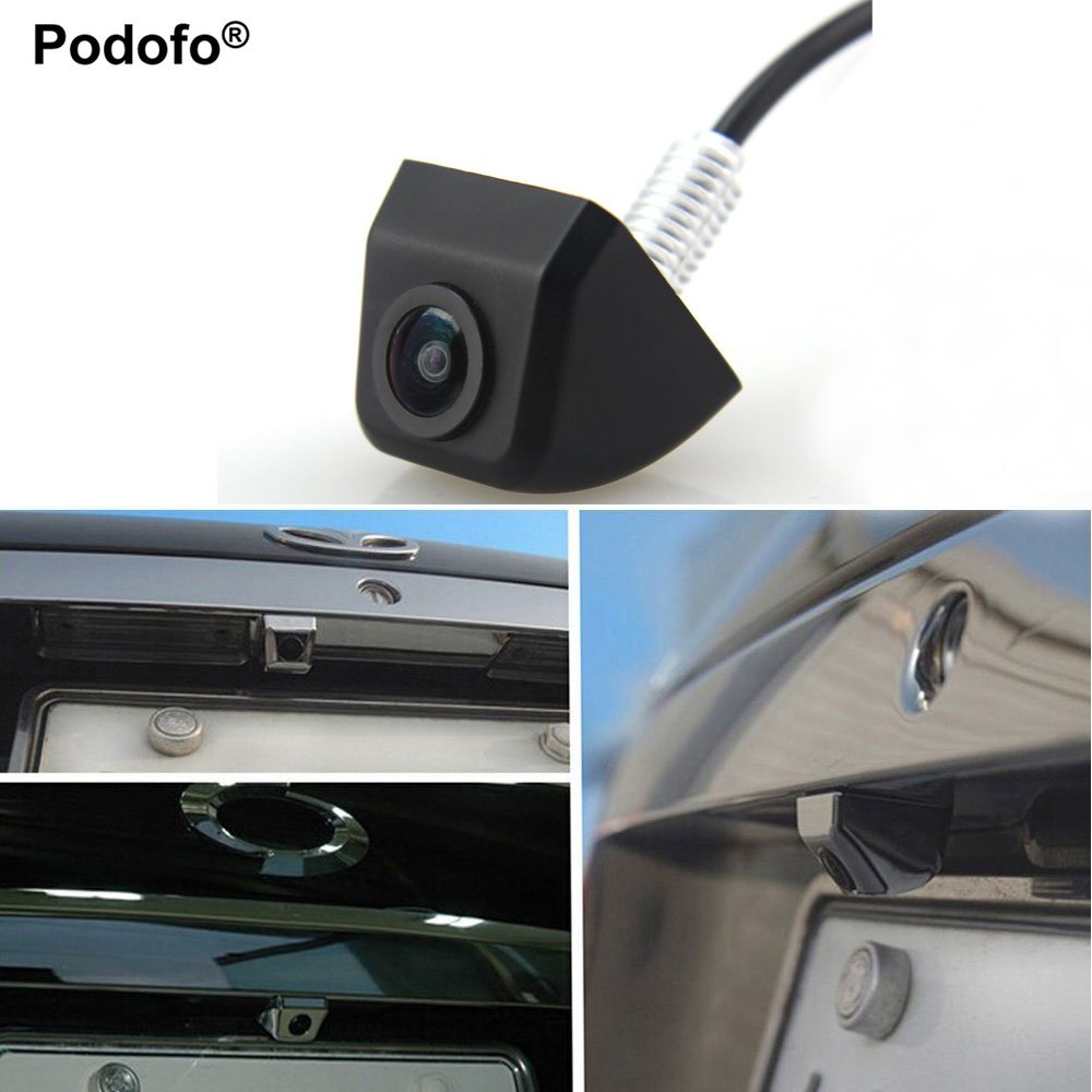 podofo mini car rear view camera universal parking reverse backup camera hd cmos waterproof 170. Black Bedroom Furniture Sets. Home Design Ideas