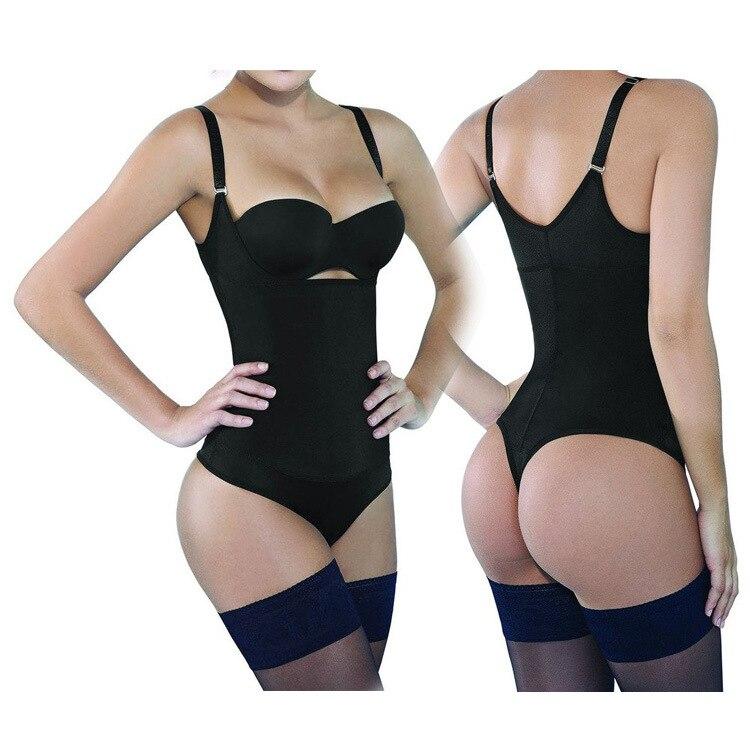 ff017a1308519 Body Shaper Bodysuit Women Shapewear Bustier Underwear Sexy Ladies Thong  Latex Waist Trainer Slimming Bodycon Corsets Cincher