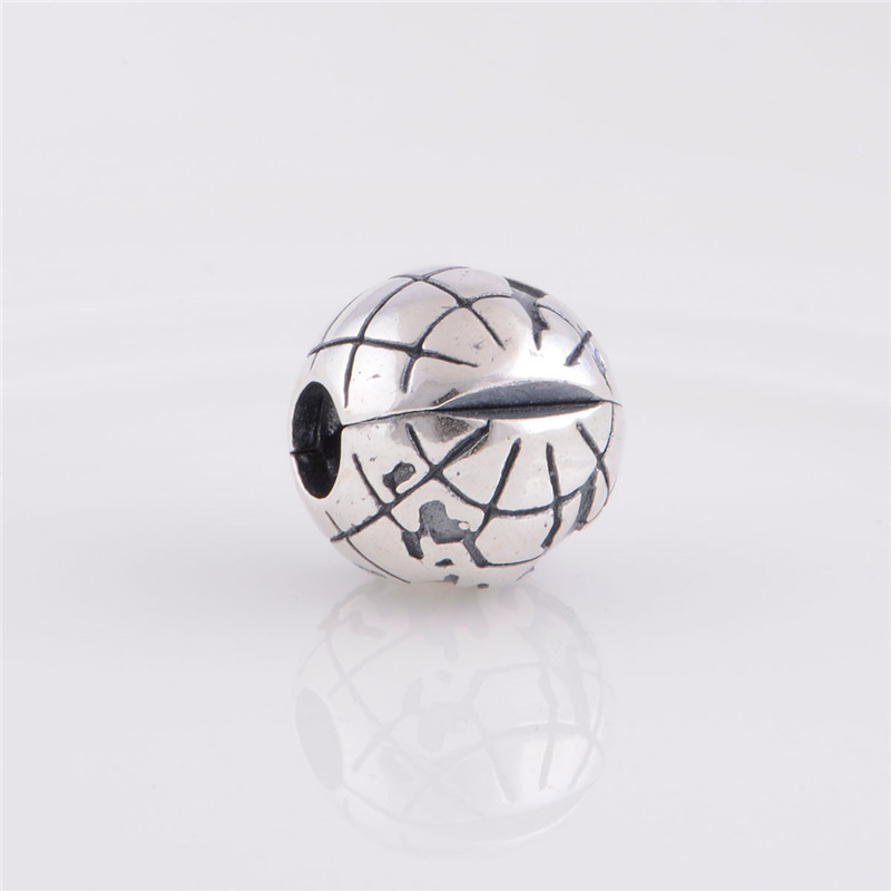 Authentic s925 sterling silver earth world globe lock clip ball authentic s925 sterling silver earth world globe lock clip ball charm suitable for pandora snake chain charms bracelet in beads from jewelry accessories sciox Choice Image