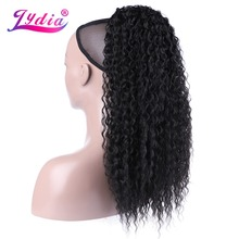 Lydia Synthetic Drawstring Ponytail Afro Kinky Curly Hairpiece With Two Plastic Combs  All Colors Available Natural Black Middle
