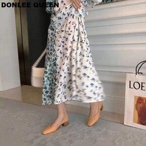 Image 5 - סתיו אופנה עץ עקבים משאבות נעלי נשים עקב נמוך סירת נעליים להחליק על רדוד ופרס נקבה משרד עבודה נעלי Zapatos mujer