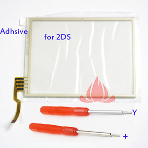 Image 1 - 2pcs Touch Screen Glass Digitizer Lens Replacement for Nintendo 2DS  W Adhesive Screwdriver