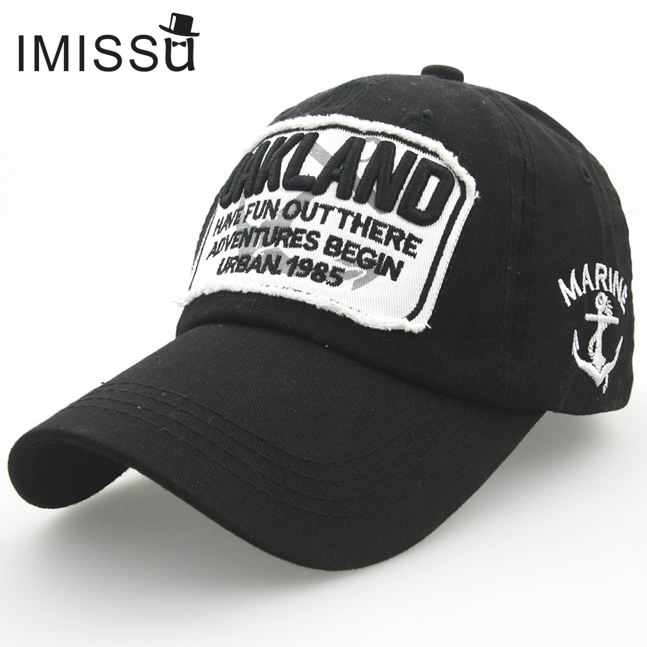Prix pour IMISSU Unisexe Casquette de baseball Réglable Chapeau De Mode Casual Chapeau Gorras Hip Hop Snapback Casquettes Oakland Chapeaux