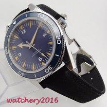 Newest Hot top brand 41mm Debert blue dial ceramic bezel Date mens watches Automatic movement Mechanical Mens Wristwatches