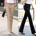 Más los pantalones del tamaño pantalones de las mujeres 2017 primavera verano casual pantalones flare pantalones ol pantalones harén mujeres oficina vestido formal