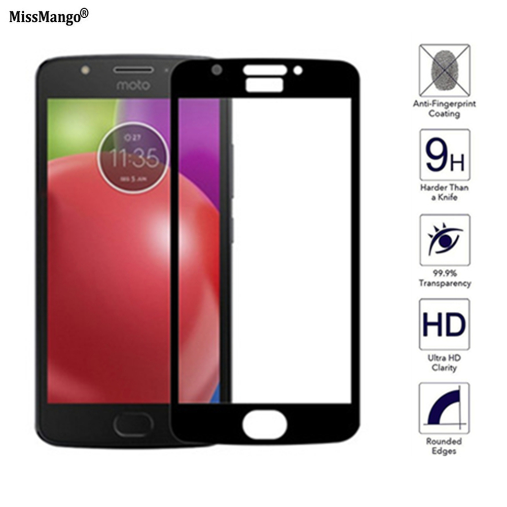 top fashion a5d9b 4c6f2 US $1.57 10% OFF|9H Full Cover Tempered Glass For Motorola Moto E4 Plus  Screen Protector Protective Film for Moto E4 plus Case Full Body glas-in  Phone ...