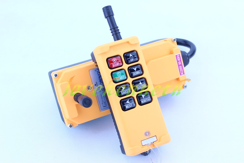 HS-8 12-415V 1 Transmitter 8 Channels Industrial Wireless Crane Hoist Remote ControlHS-8 12-415V 1 Transmitter 8 Channels Industrial Wireless Crane Hoist Remote Control