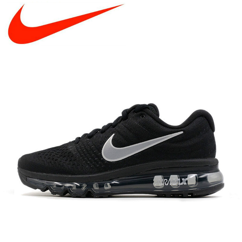 283d4de2384 Hot Sales Nike Air Max 2017 Breathable Men s Original New Arrival Official Running  Shoes Sports Sneakers