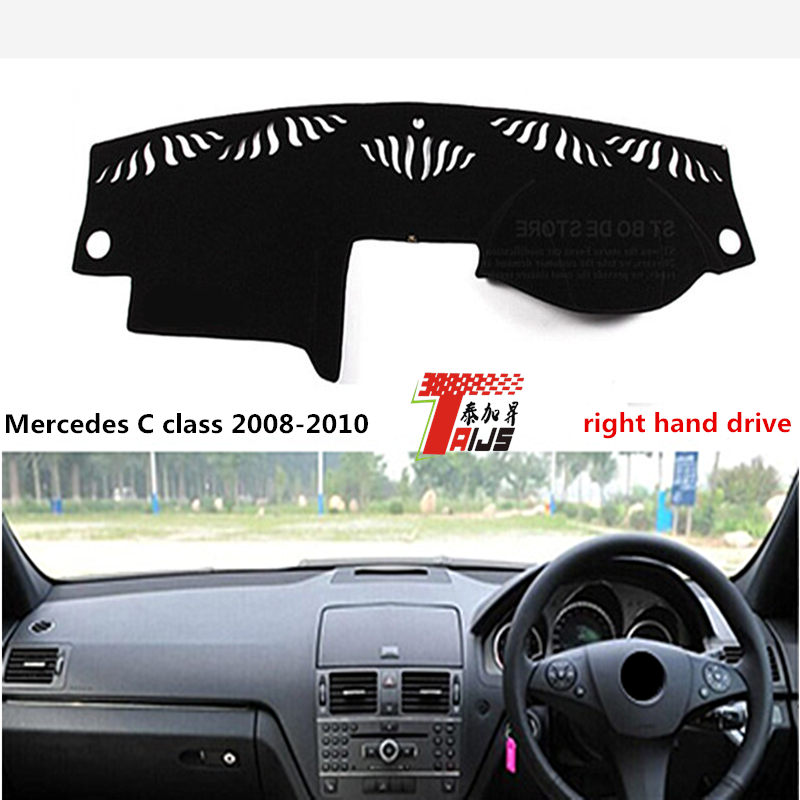 TAIJS Hot Selling RIGHT hand drive car dashboard cover for Meredes-benz C 2008-2010 class Avoid light pad for Meredes-benz
