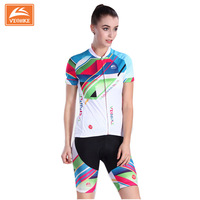 Ice Fabric Women Cycling Jersey Short-sleeve Breathable Shorts Bike Clothing Outdoor MTB Cycling Jersey Set 4D GEL