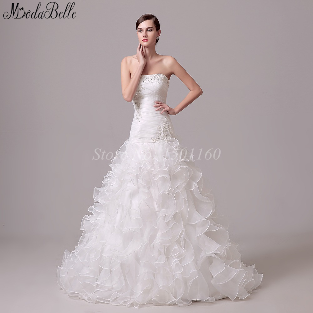 Discount Designer Wedding Gowns: 2016 New Style White/ivory Ball Gown For Wedding For Sale