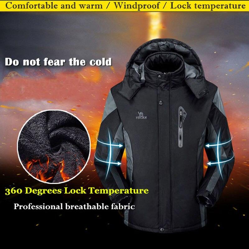 Vestes de Ski hommes et femmes chaleur thermique imperméable manteau de pluie veste de randonnée en plein air Sports d'hiver Snowboard Ski vestes de neige - 2