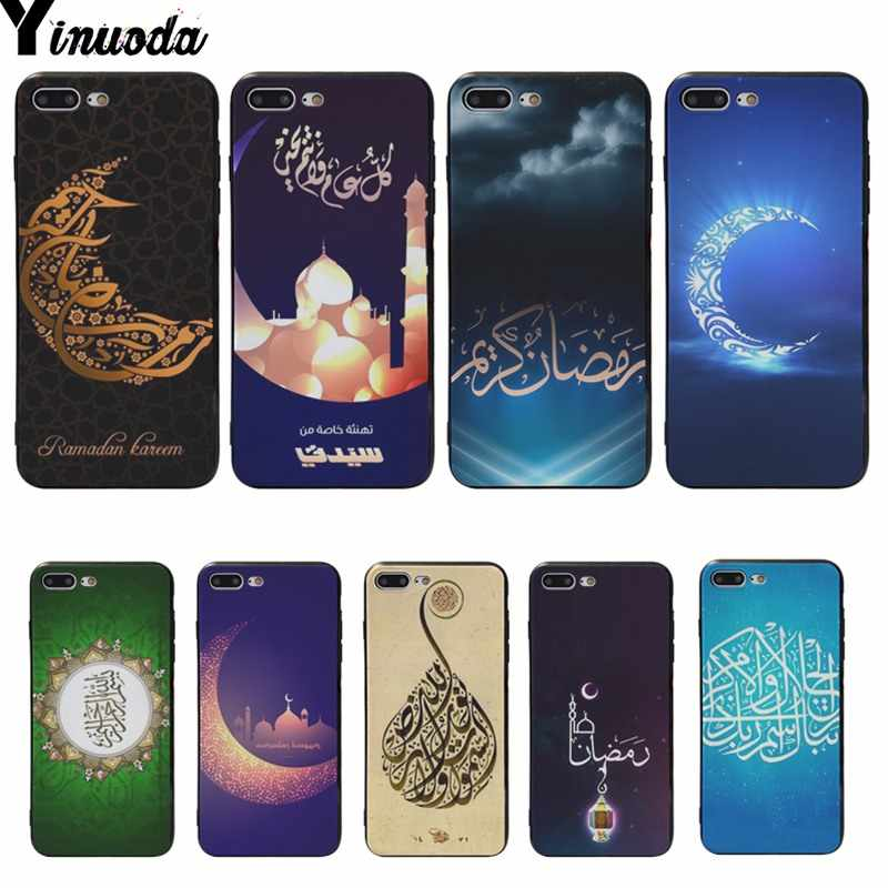 Yinuoda Muslim Islamic Ramadan God Allah Silicone Cover cases For iphone XS MAX 6 6s 6plus 6S plus 7 7plus 8 8plus 5 5S SE XR X