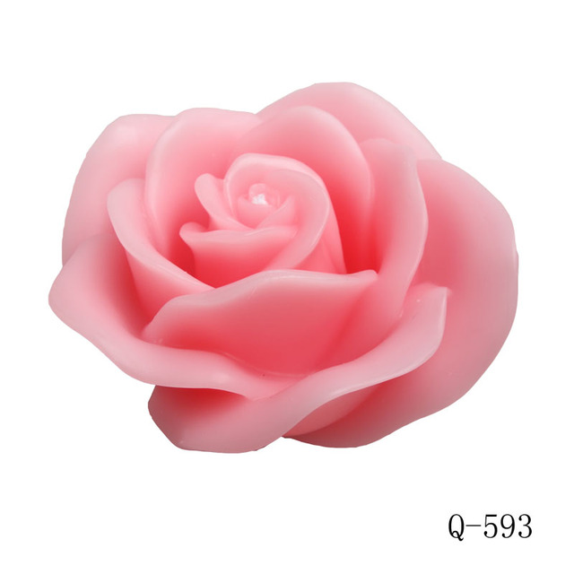 Q 593 Big Rose Candle Mold Soap Mold 3d Foodgrade Silicon Mold In