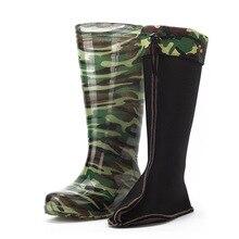 Брендовые непромокаемые сапоги; бархатные утепленные камуфляжные высокие сапоги; водонепроницаемые Нескользящие сапоги; обувь; резиновая обувь; ботинки для мытья автомобиля