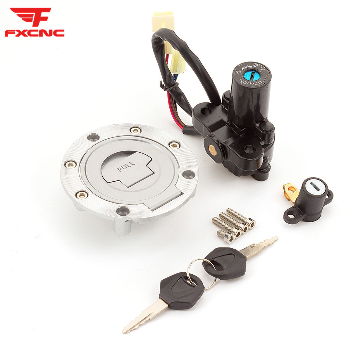 Pour Yamaha MT03/09 FZ6/09/6R XJ6 YZF R6/R1 FJR1300 12V interrupteur à clé d'allumage de moto siège serrure réservoir de carburant bouchon de gaz couvercle ensemble