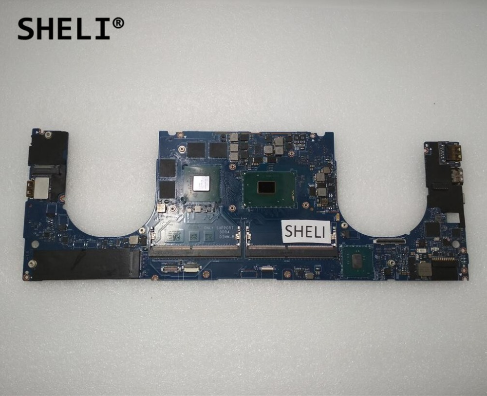 SHELI For DELL X P S 15 9550 Motherboard With I7-6700HQ Cpu GTX960M LA-C361P CN-0Y9N5X 0Y9N5X Y9N5X