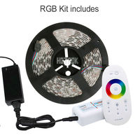 RGB RGBW Led Strip Waterproof 5050 smd 5M 300 Leds Tapes Ribbon + RF Touch Remote Controller + 12V 5A Power Adapter Supply Kit