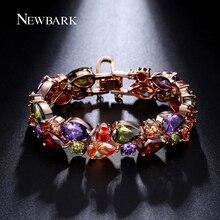 NEWBARK Bracelets & Bangles Cluster Charm Bracelet Femme For Women Best Friend Christmas Gift Big Crystal Pulseras Mujer