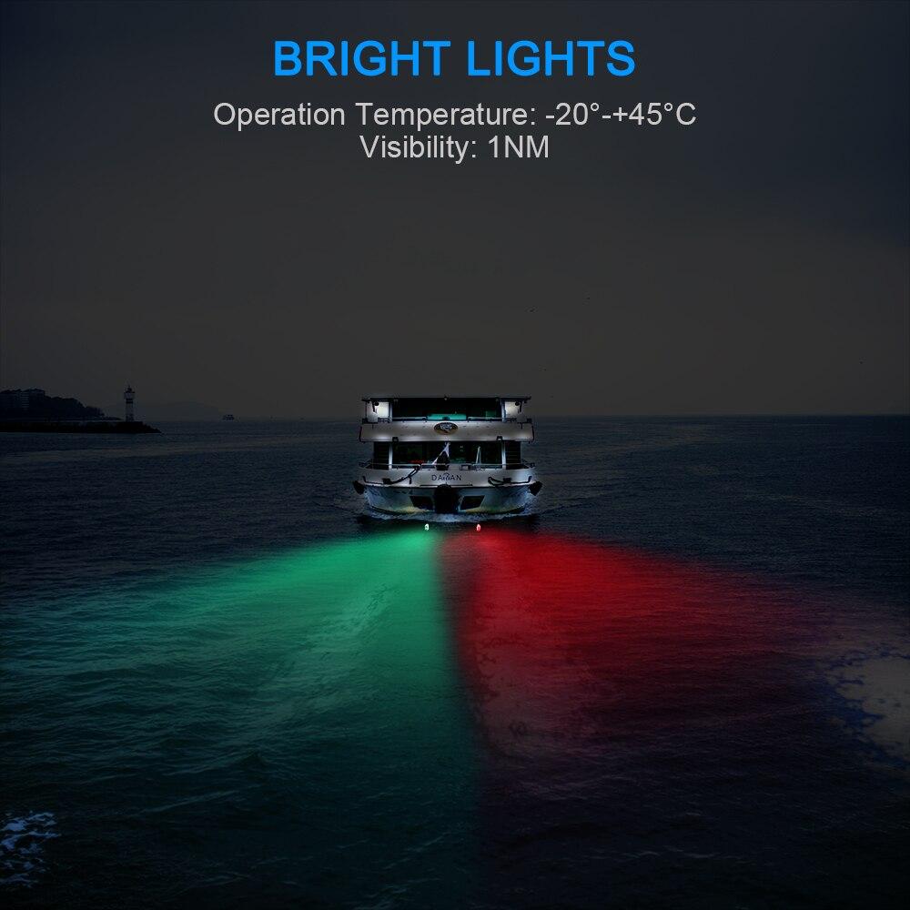 dlightweight água leve dispositivos barco deck lâmpadas 2 pcs