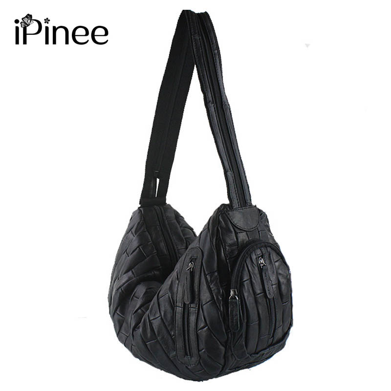 iPinee The New 2018 Multifunctional Female Shoulder Bags Genuine Leather Backpacks Larger Sheepskin Bags For Women
