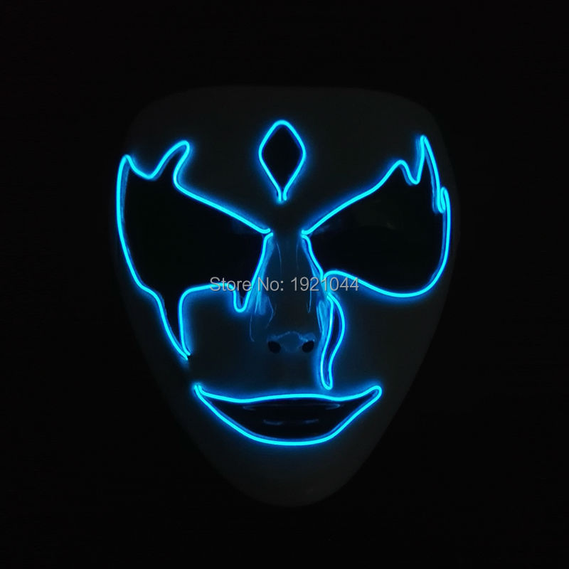 Mask 2019 Newest LED glowing wire Neon ghost Halloween YEAHUI Festival Party DC-3V EL Supplies scary Night terror 2